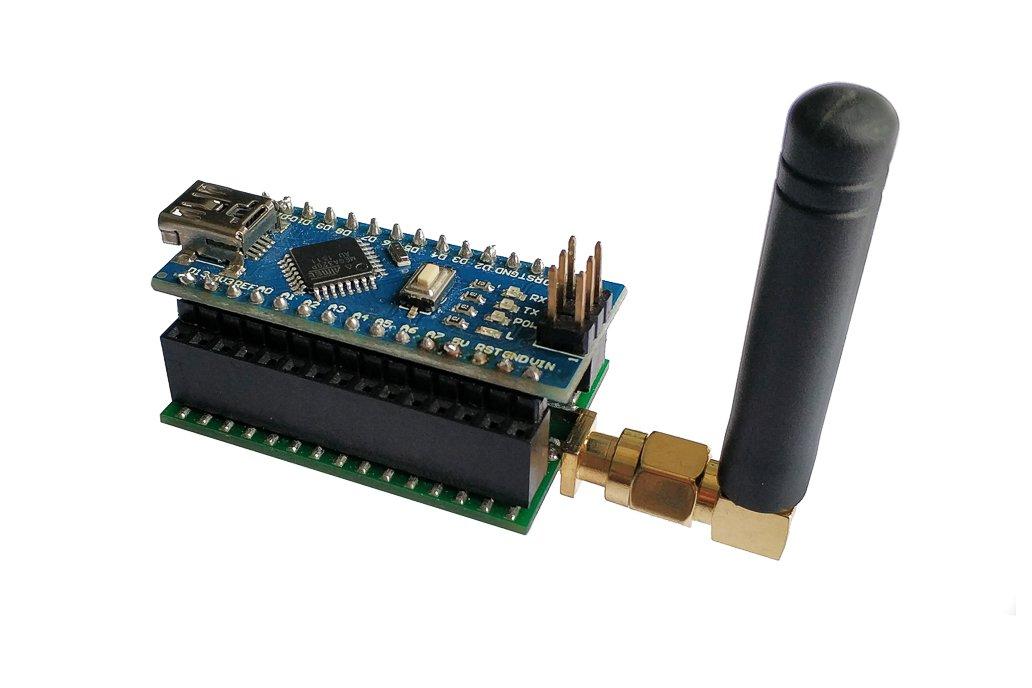 Arduino Nano radio shield for RFM 69 or NRF24L01+ 4
