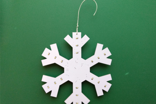 LED Snowflake Christmas Ornament