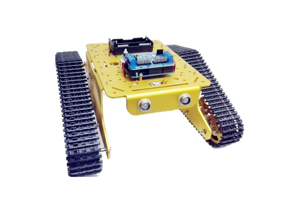 Wireless WiFi metal tank car chassis with arduino 4