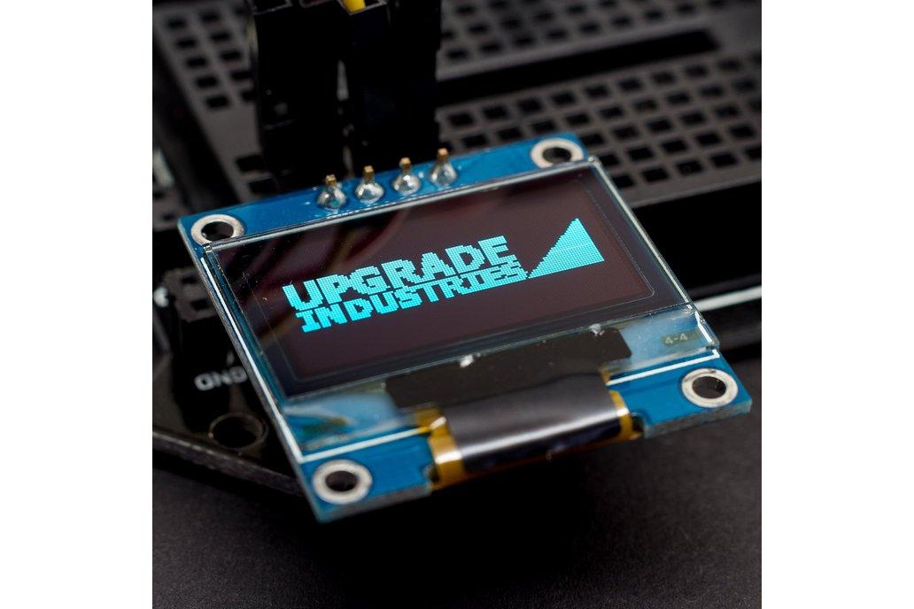 128x64 Blue I2C OLED Display - 0.96 inch 1