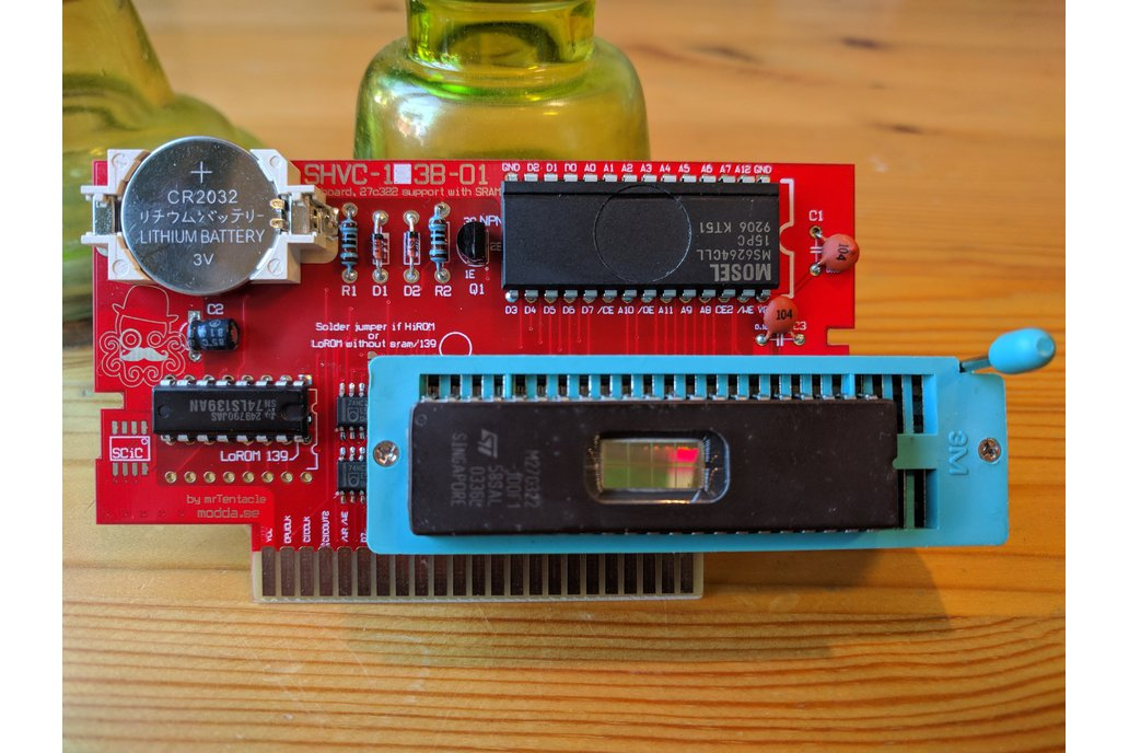 27C322 support SNES repro PCB build your own carts 4