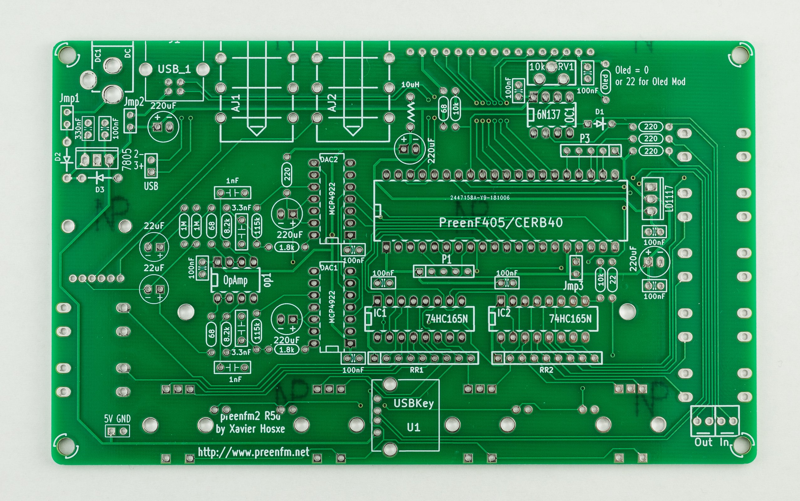 Preenfm2 Fm Synthesizer Pcb F405 Mcu Board From Synthdiy On Tindie Circuit 1