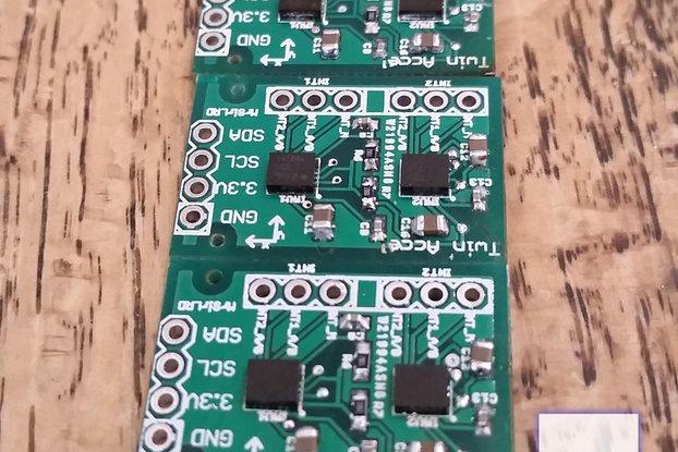 Dual LSM9DS1 IMU breakout board Acc/Gyro/Mag