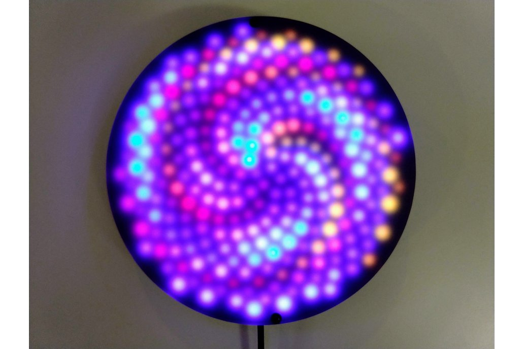 Fibonacci256 - 166mm disc with 256 WS2812B RGB LED 1