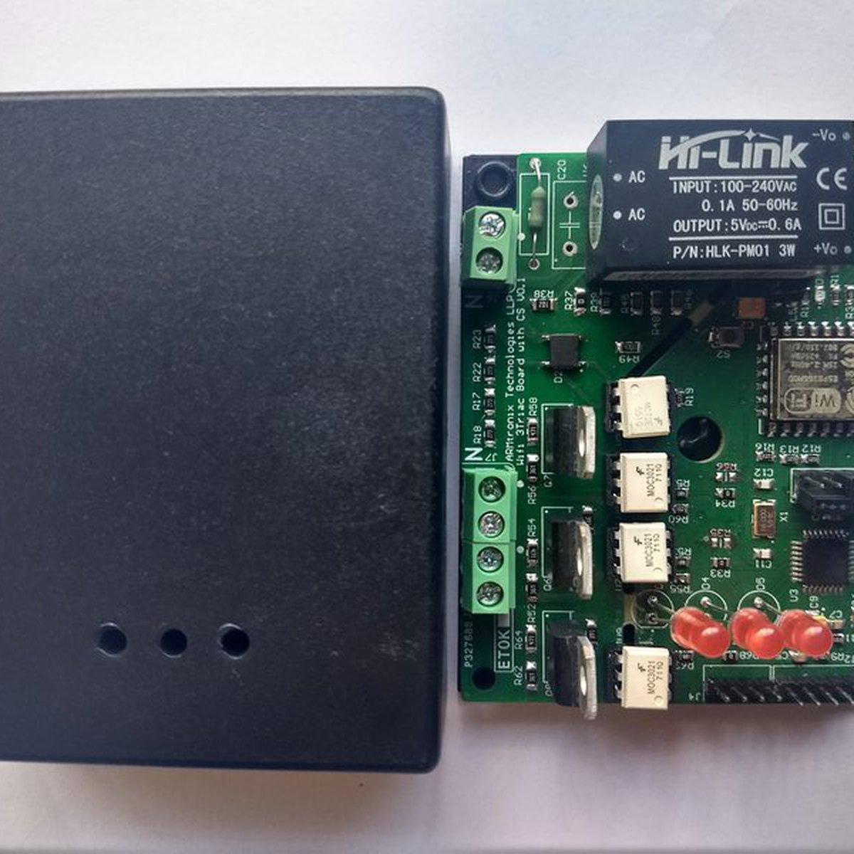 Wifi AC Dimmer Three Triac Board from Armtronix on Tindie
