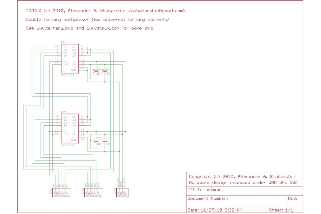 Dual balanced ternary multiplexer/demultiplexer 7