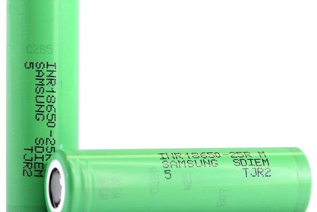 2 pieces Li-Ion Battery Samsung 25R 2500mAh 20A