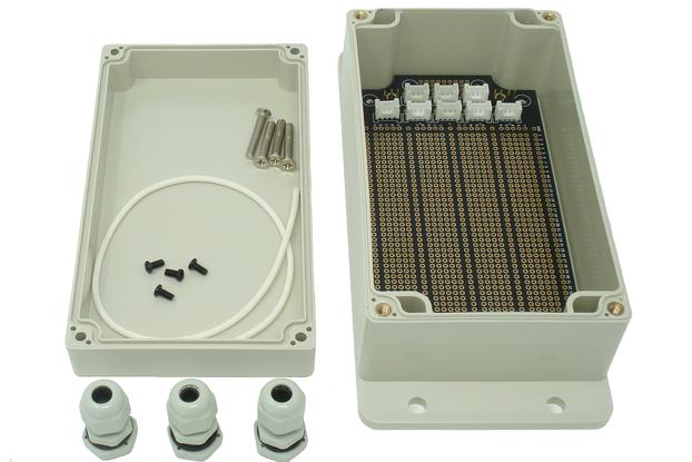 IP65 158mm x 90mm x 64mm Enclosure & Breadboard