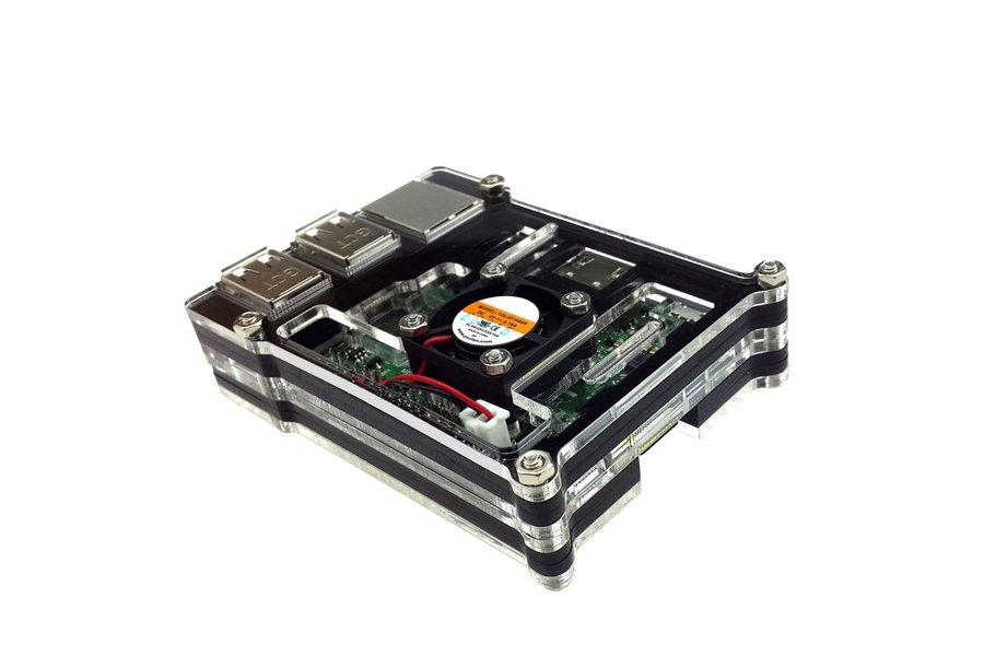 Raspberry Pi 3  Acrylic Case With Fan