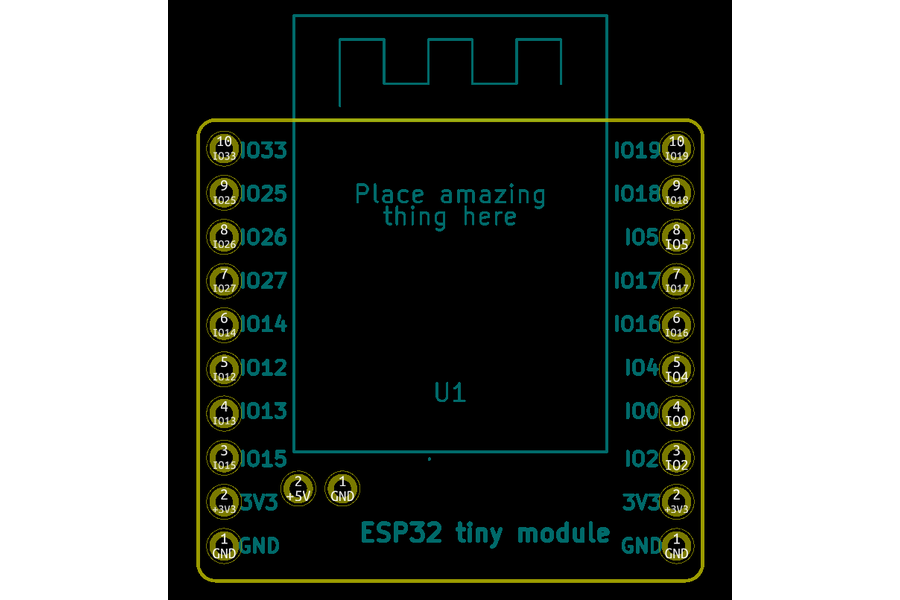 Tiny ESP32 board