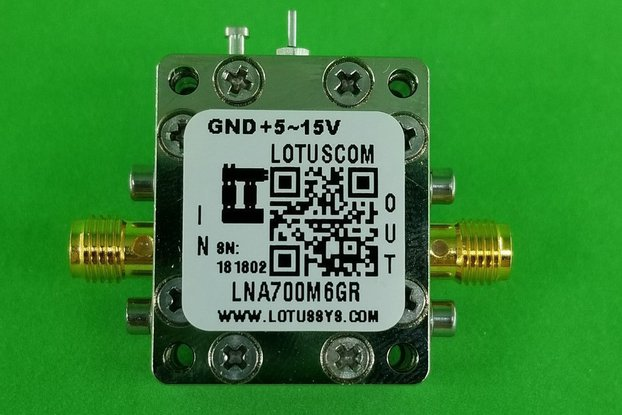 Broadband Ultra LNA with LDO 0.4dB NF 0.7~6GHz SMA
