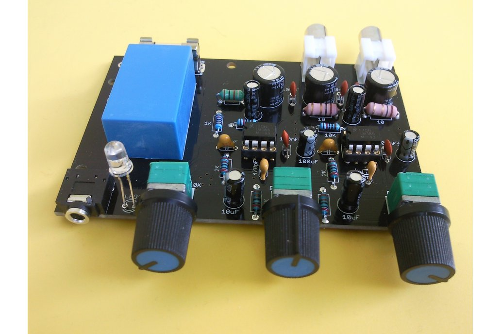 LM386 stereo amplifier with bass boosting DIY kit 6
