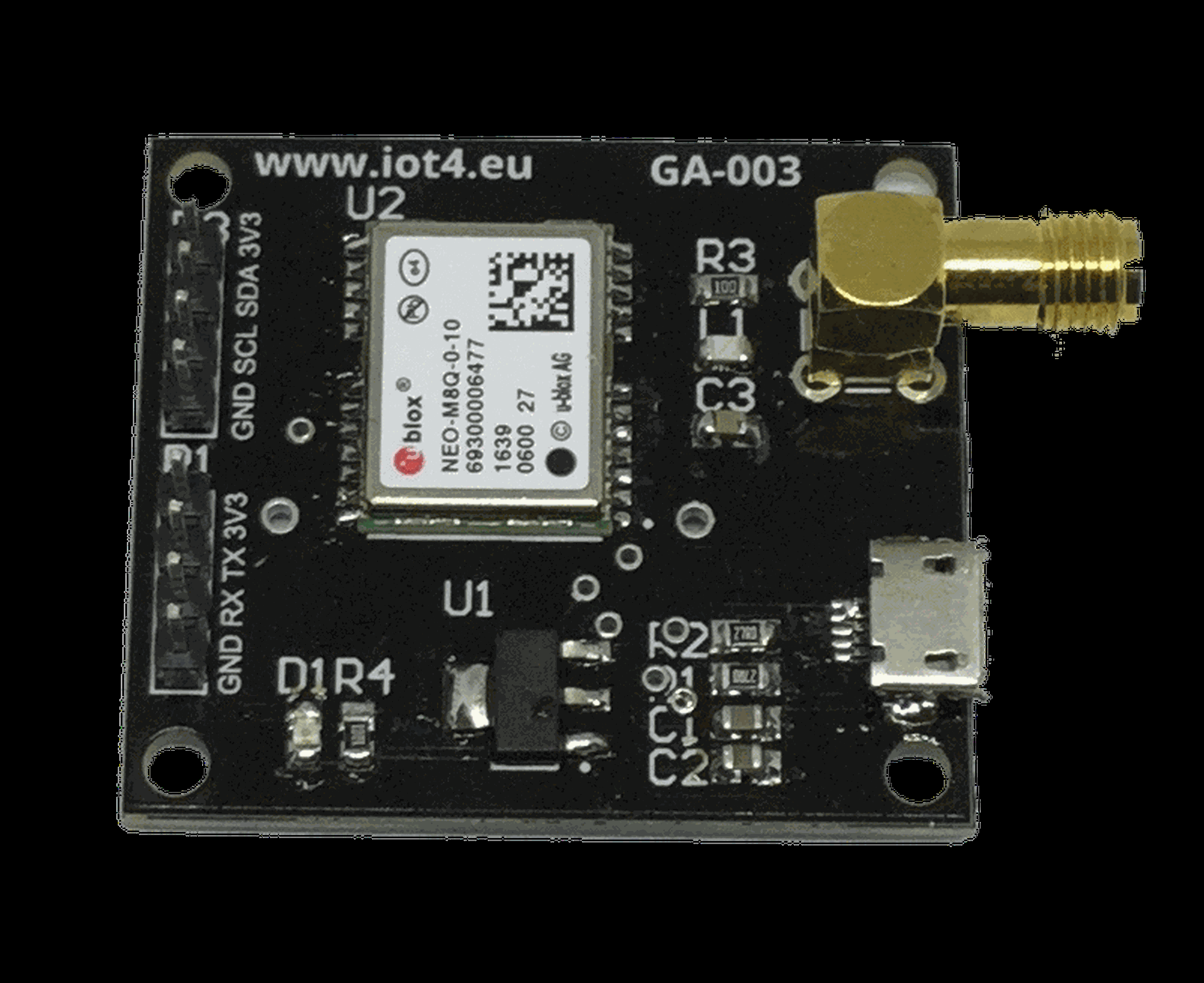 GA-001 Multi GNSS Ublox Lea M8S dev board from jrobi772 on Tindie