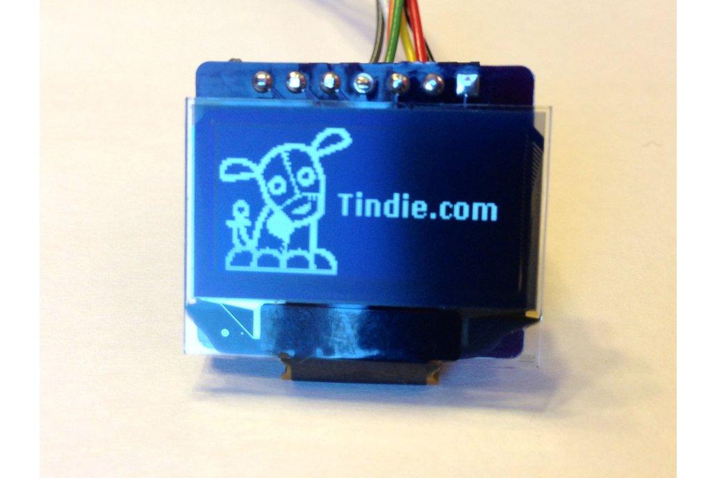 """0.96"""" OLED SPI Display (3.3V only) 1"""
