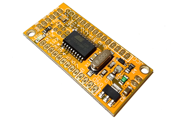 ATtiny1634 dev. board w/Optiboot (assembled)