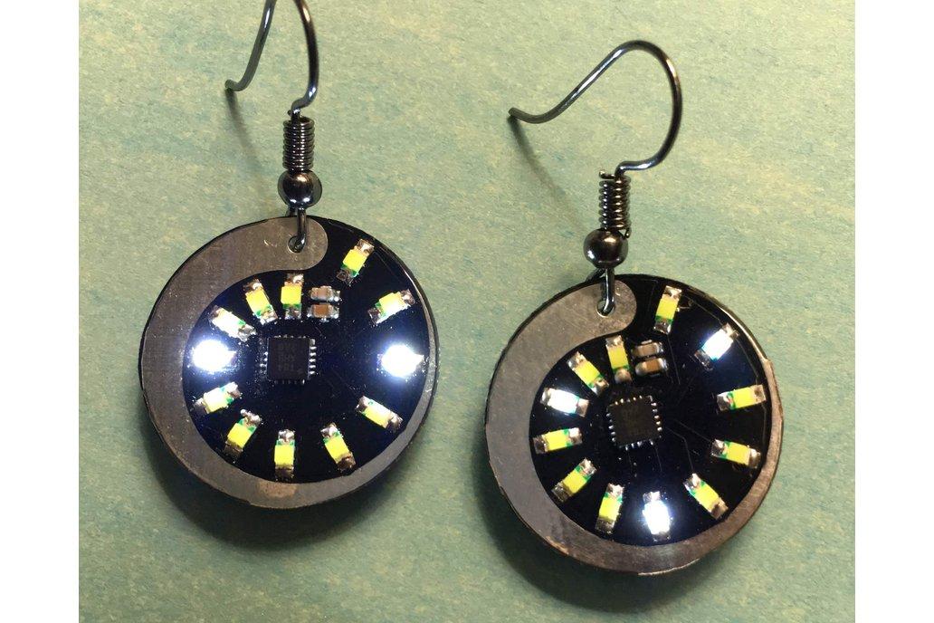 White LED earring (pair) 1