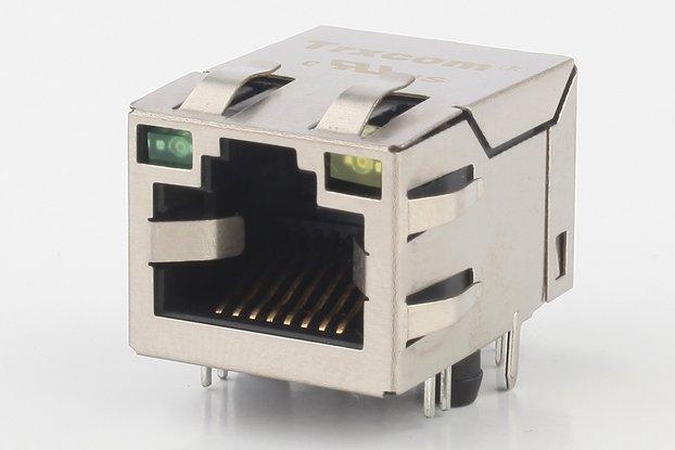 10/100M Single Port Tab-Down HFJ11-2450E-LS12RL