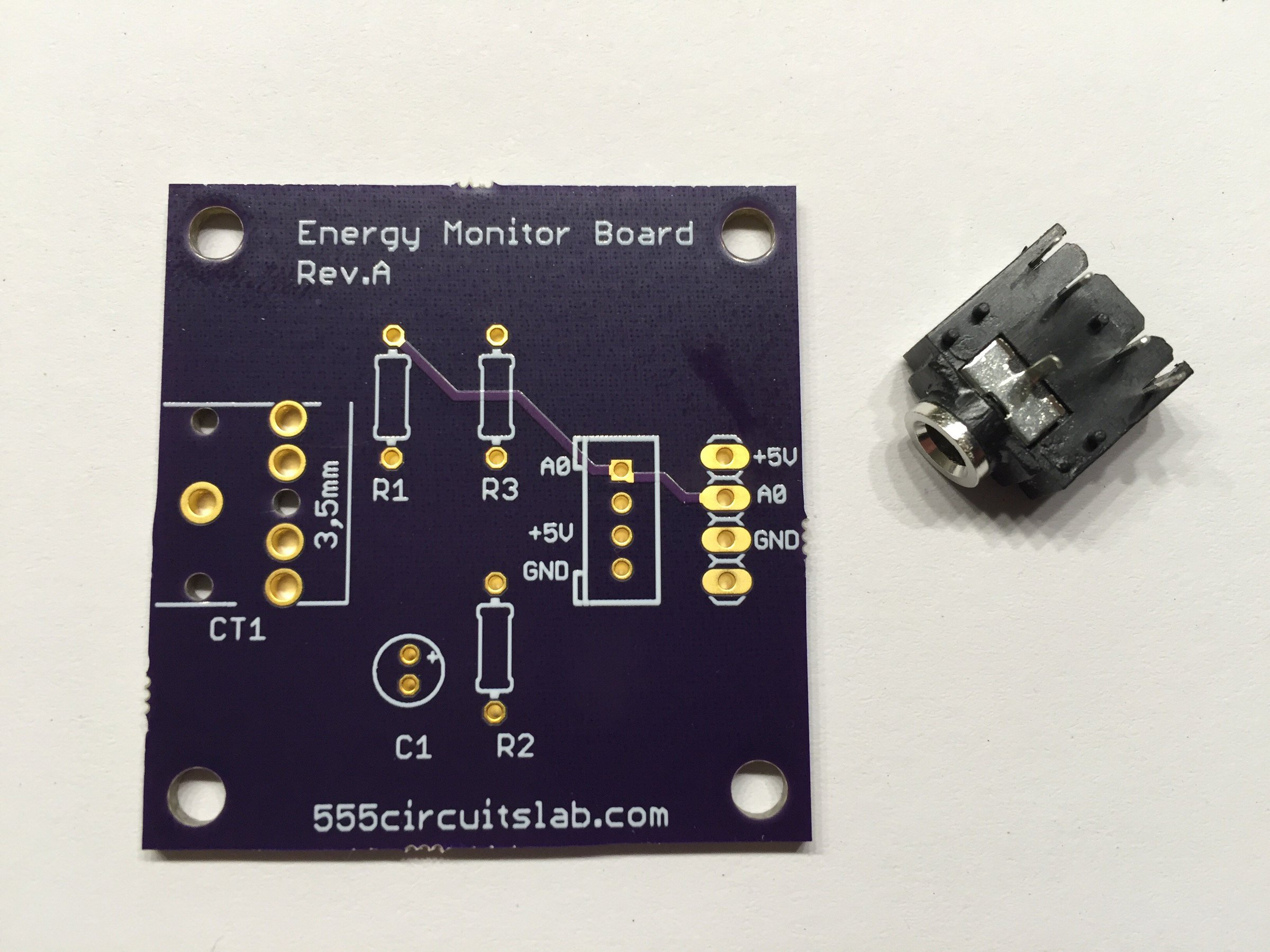Energy Monitor Board Pcb Incl Stereo Jack From Arduinopraxis On Wiring 1