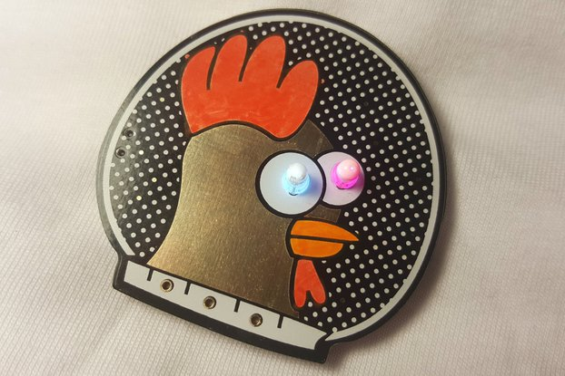 Spacehuhn blinky LED badge kit