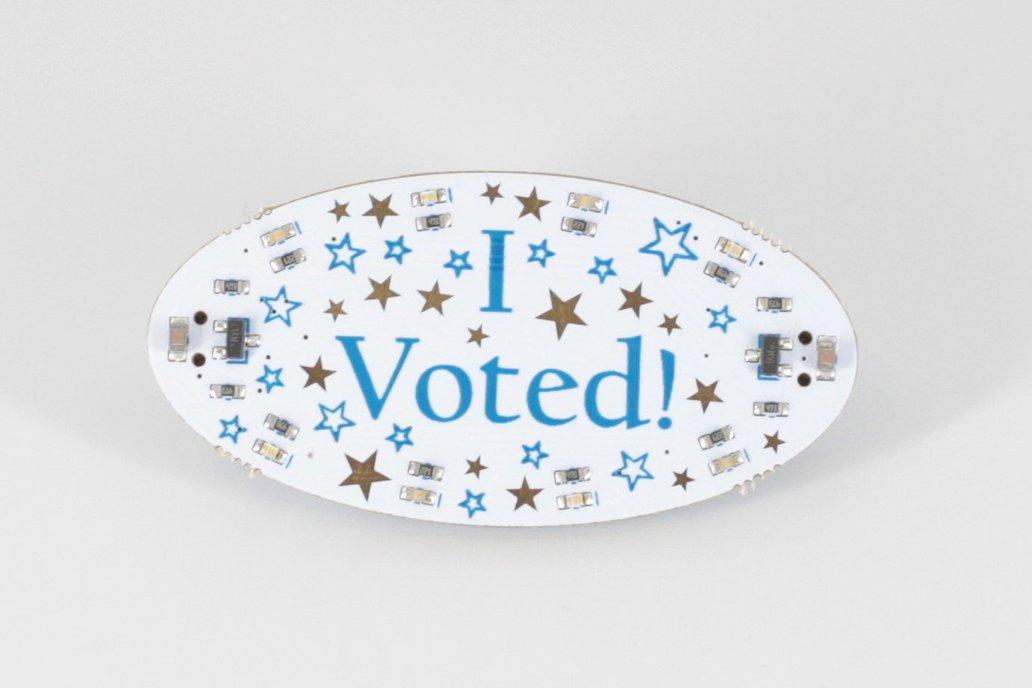I Voted Blinky Badge, Pre-Assembled 1