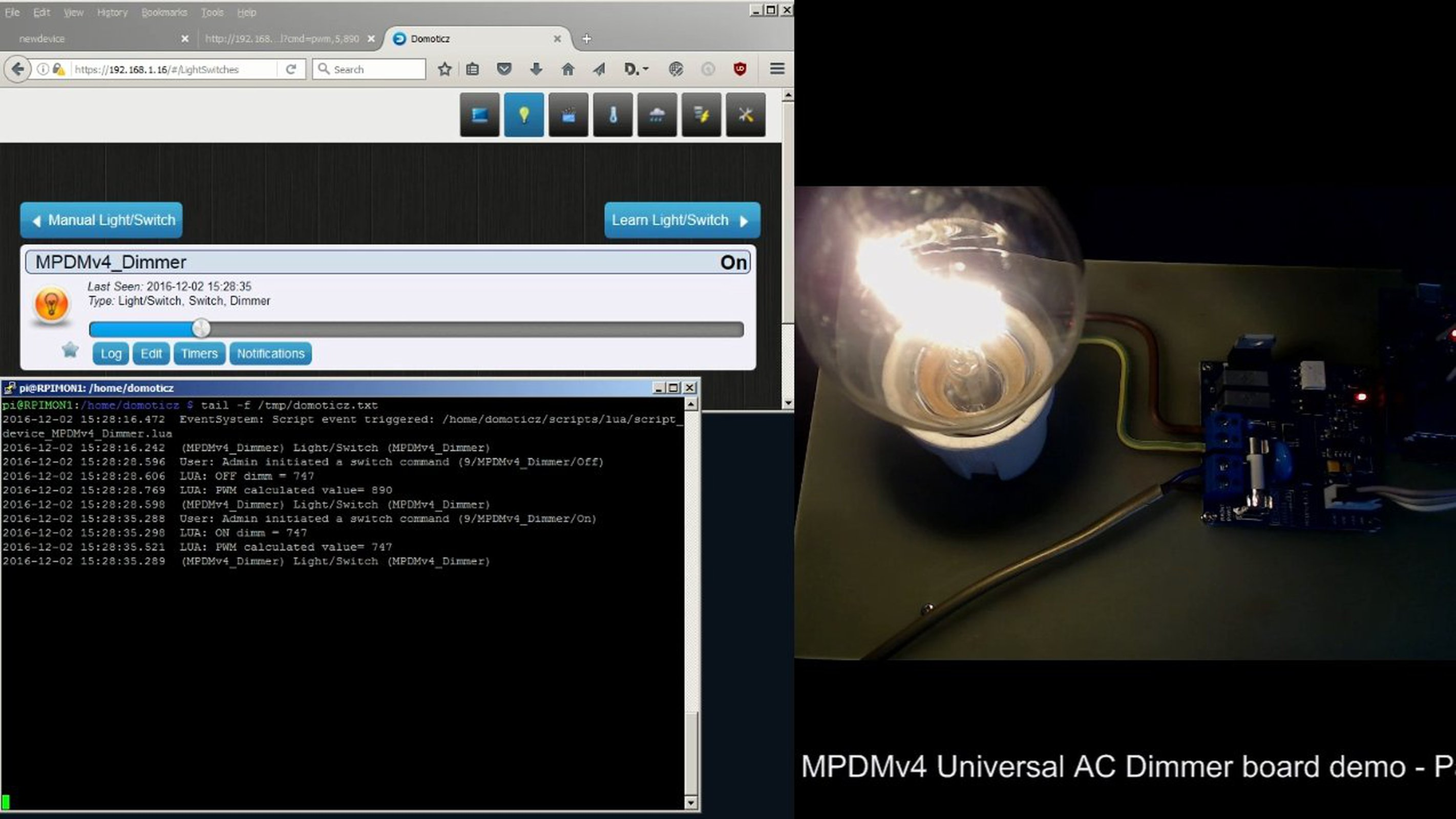 Universal Ac Mains Dimmer Mpdmv41 From Nextevo On Tindie How To Build 120 Vac Lamp 2