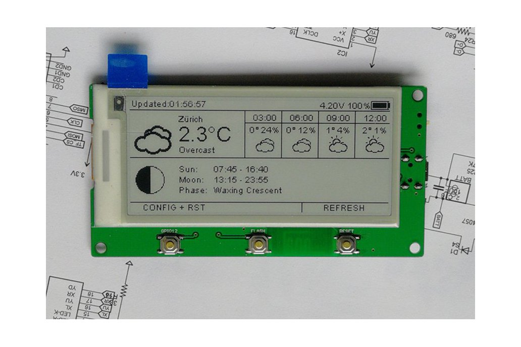 "AZSMZ EPaper 2.9"" with USB-to-Serial 1"
