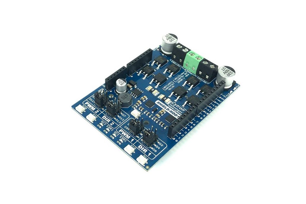 10Amp Dual DC Motor Driver Shield for Arduino 1