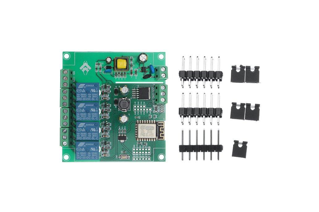 AC/DC Power Supply ESP8266 WIFI Four-way Relay 1