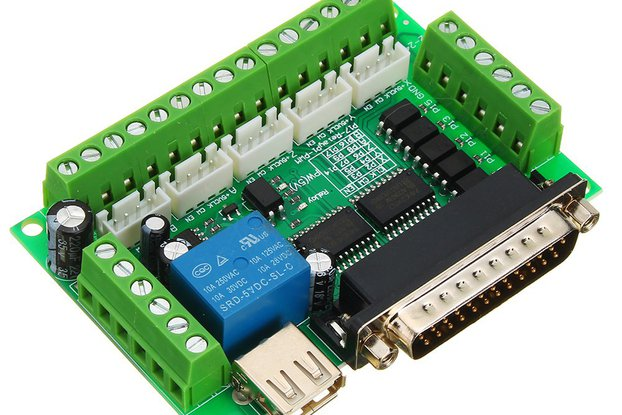 5 Axis CNC Interface Board For Stepper Motor