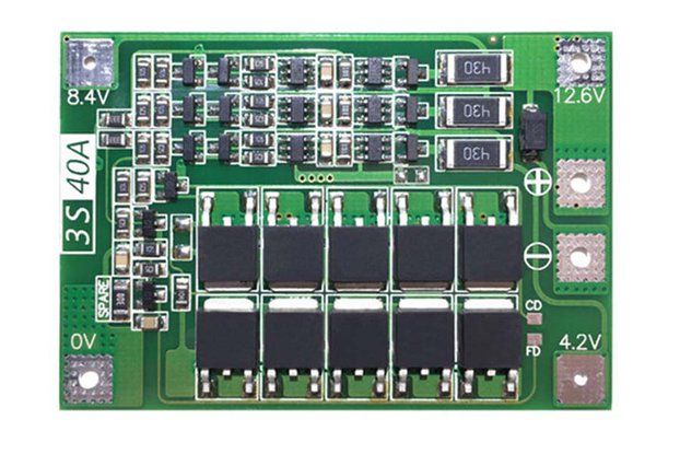 BMS 3S 18650 lithium battery Balance Board protect