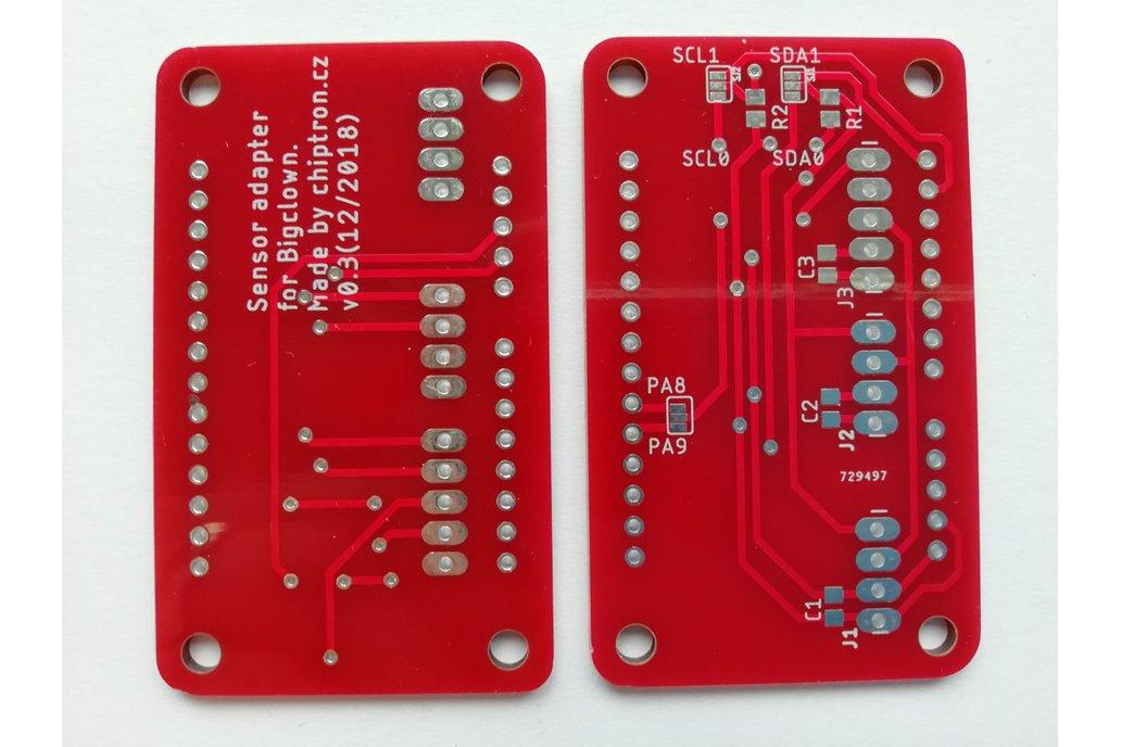 Sensor adapter v0.3 for BigClown (Bare PCB) 1