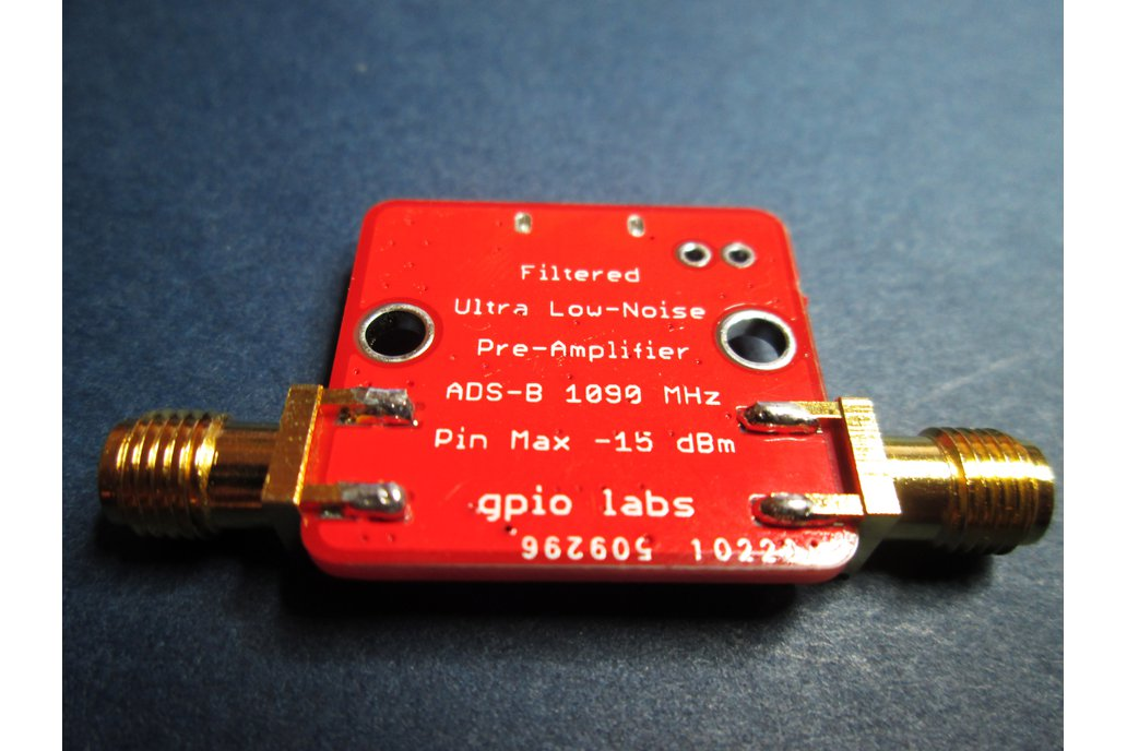 Pre-Filtered 1090MHz ADS-B Amplifier LNA 15dB Gain 2