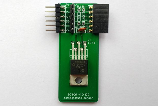 SC406 I2C Temperature Sensor Kit (TC74)