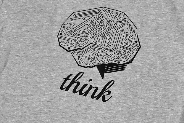 THINK TECH (Grey) Graphic T-shirt