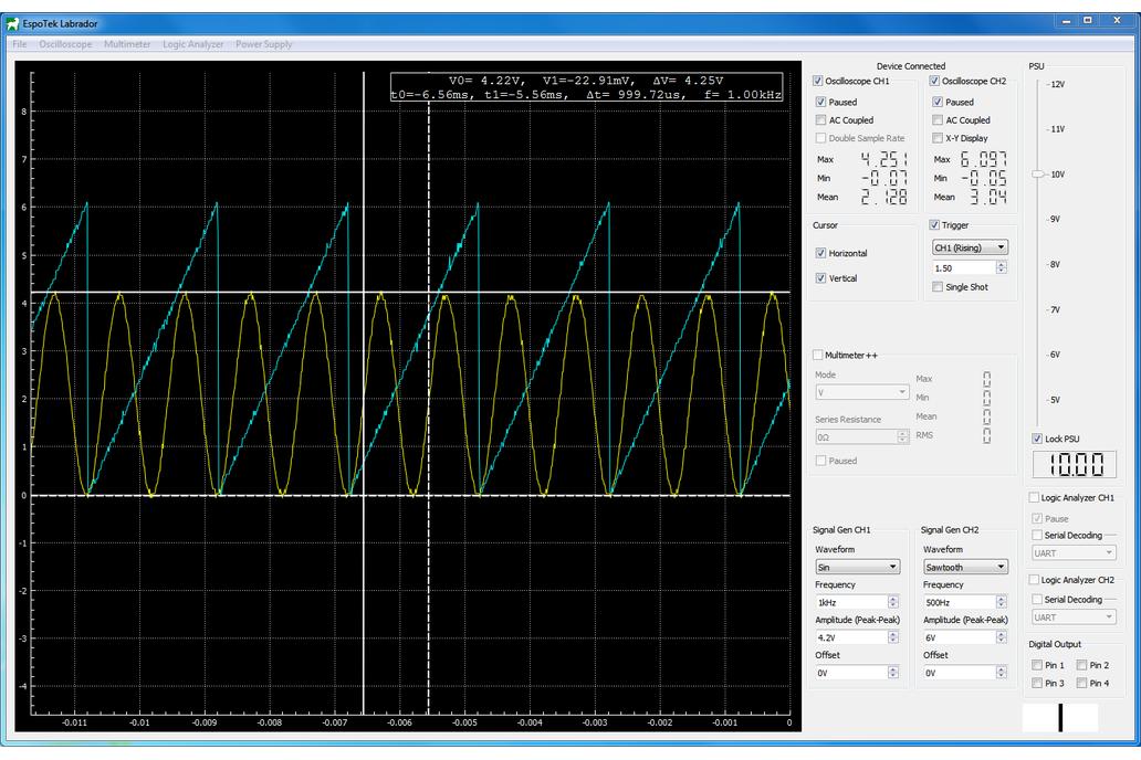 EspoTek Labrador (Oscilloscope, Signal Gen + More) 2