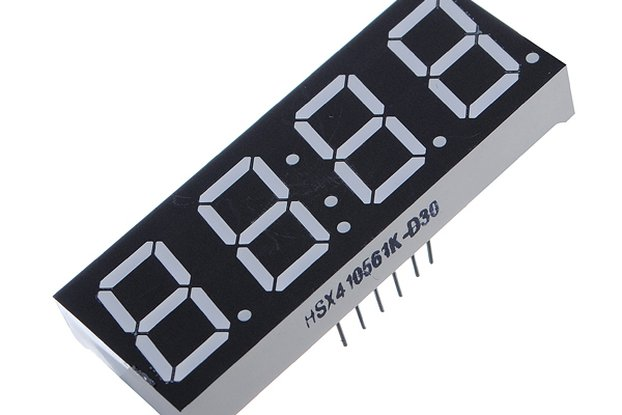 1 Pcs 7-Segment 4 Digit Super Red LED Display Comm