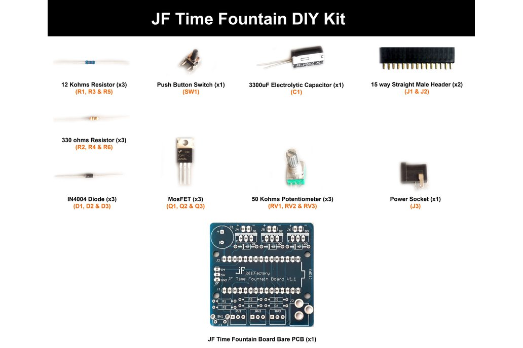 JF Time Fountain DIY Kit 2