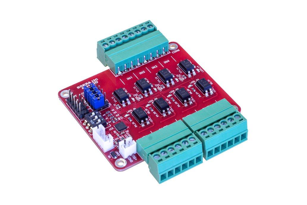 I2C 4DI + 4DO isolated module 1