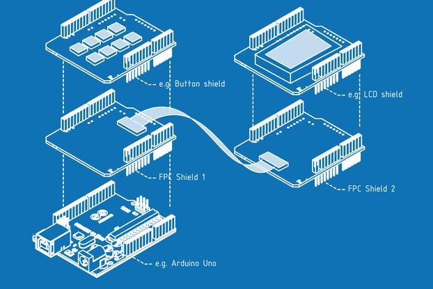 Arduino Flat Flexible Connector (FFC) Shield