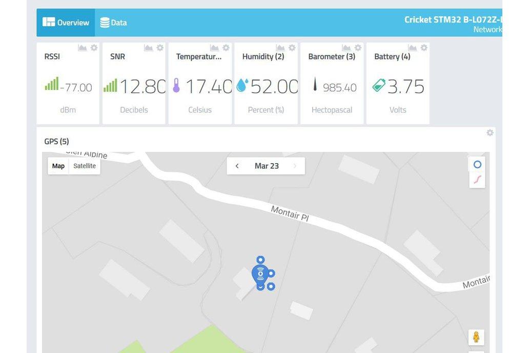 Cricket LoRa/LoRaWAN/GNSS Asset Tracker 10