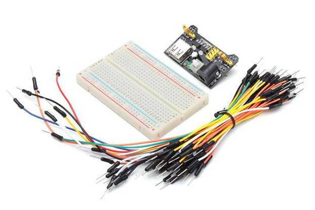 Power Supply, Jumper Cable, Breadboard Kit