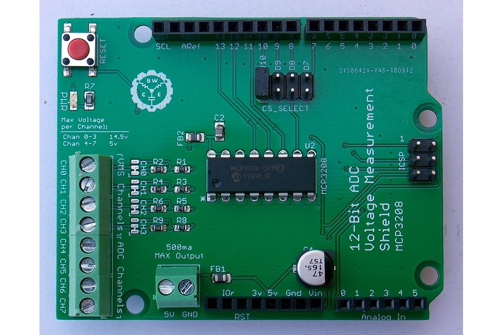 12-Bit ADC/VMS Shield for Arduino 1