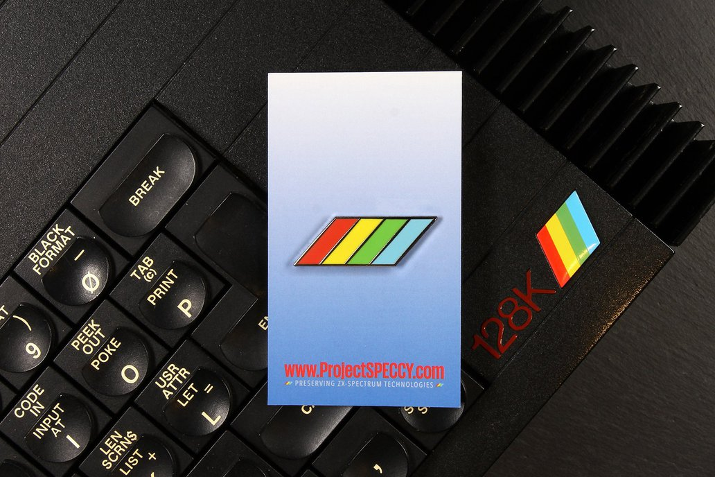 ZX Spectrum 'Flash' Pin Badge 1