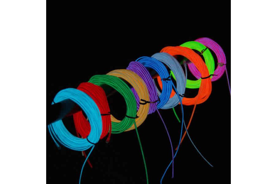 4M 10 colors 3V Flexible Neon EL Wire Light Dance
