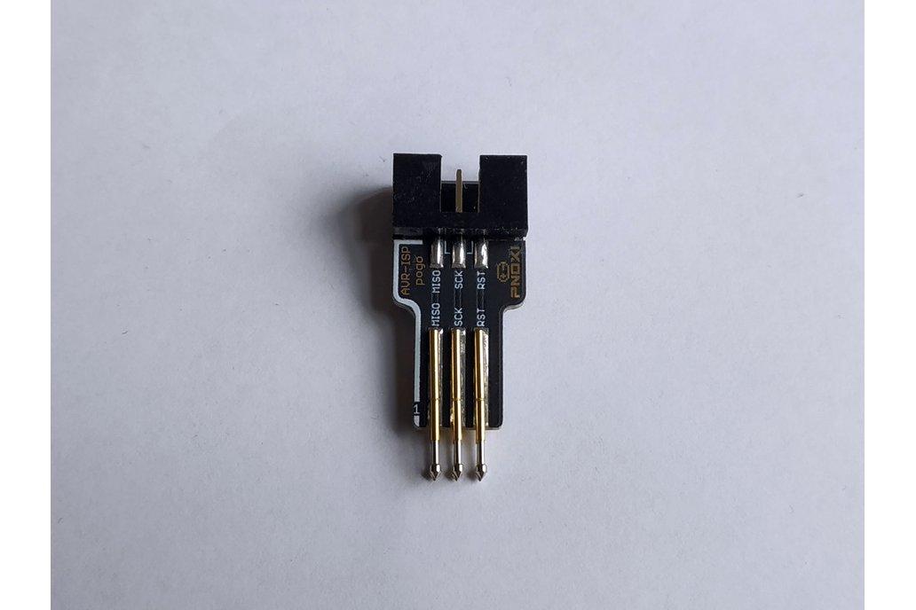 AVR-ISP Pogo Pin Adapter (2x3 IDC,2x3 Pogo 2.54mm) 1