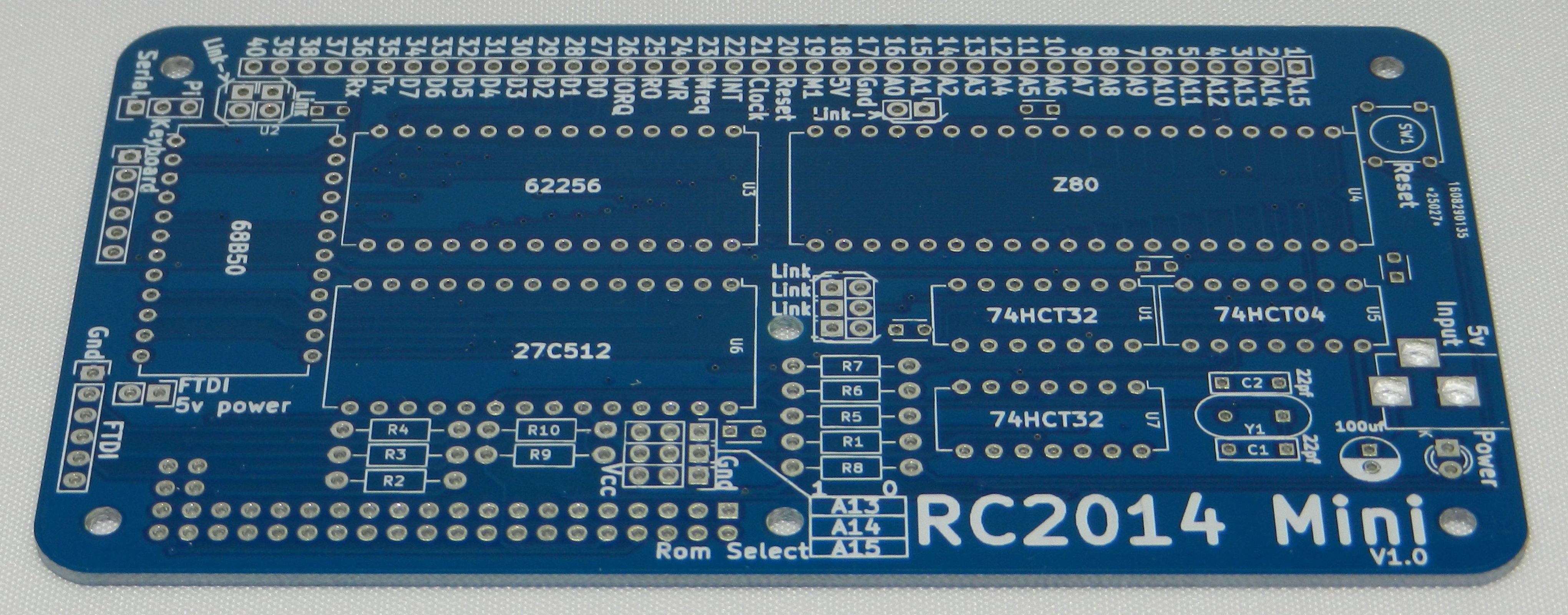 Rc2014 Mini 10 Pcb From Rfc2795 Ltd On Tindie Prototype Printed Circuit Board Breadboard Free Shipping 1