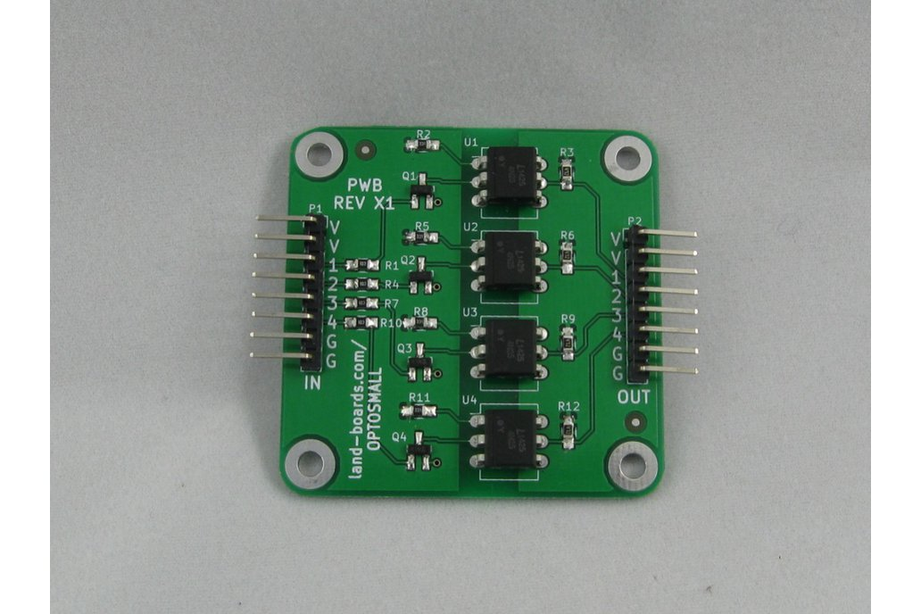 4 Channel Opto-Isolator card (OptoSmall) 1