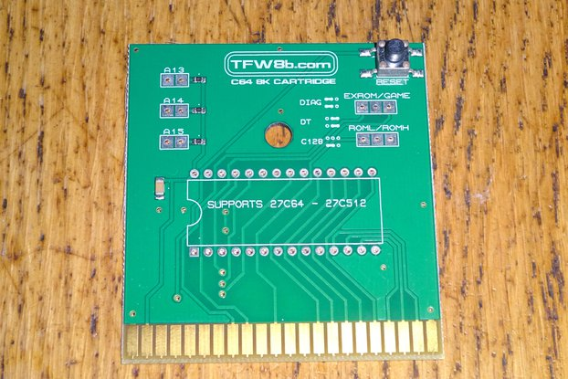 Commodore 64 8K Cartridge PCB