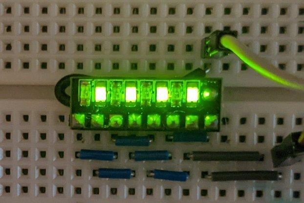 Slim Breadboard Indicator, Green (8 position)