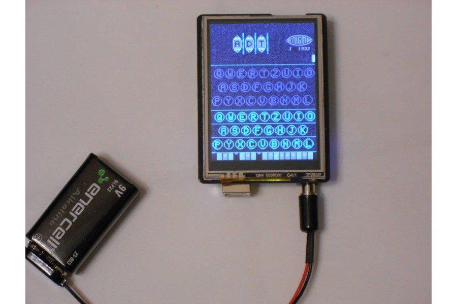 Arduino Enigma I, M3, M4 Machine Simulator w/ Case
